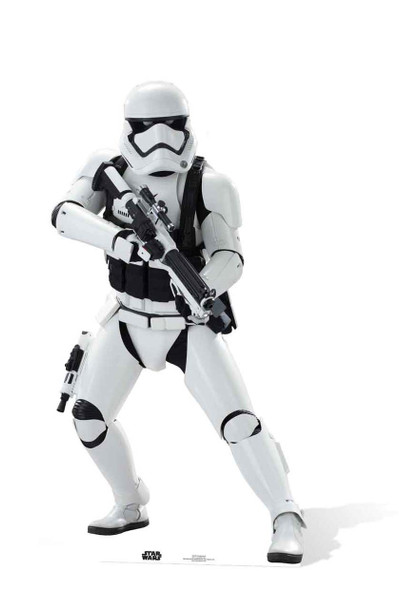 First Order Stormtrooper Star Wars: The Force Awakens Lifesize Cardboard Cutout