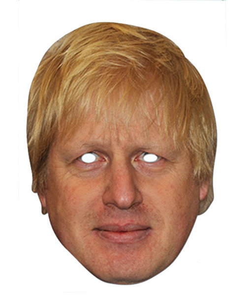 Boris Johnson Celebrity London Mayor Card Party Face Mask
