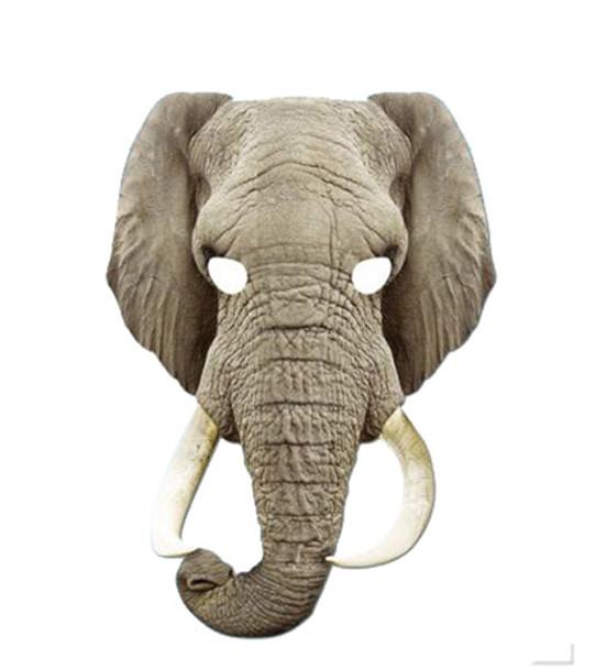Elephant Animal Card Party Face Mask