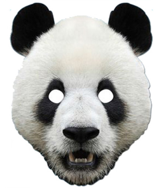 Panda Animal Card Party Face Mask