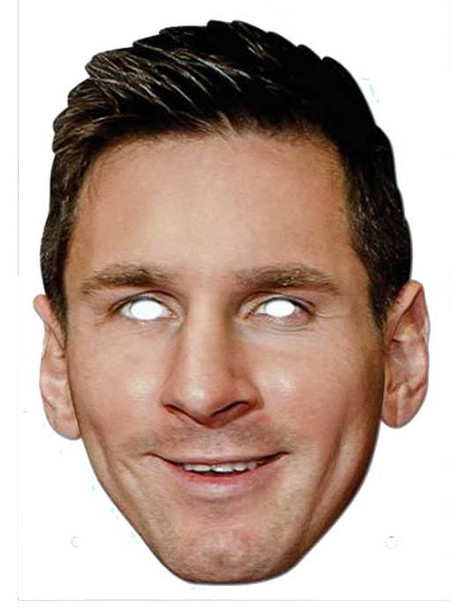 Lionel Messi Footballer Card Party Face Mask