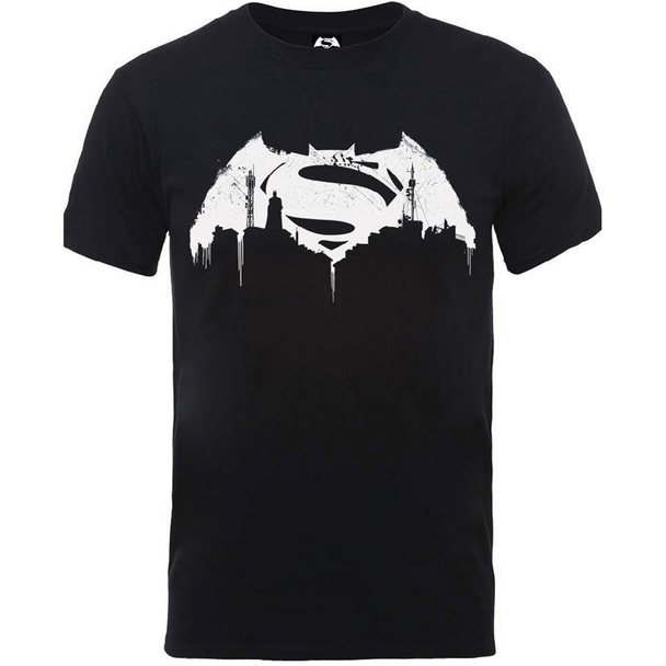 Batman v Superman Beaten Logo T-Shirt