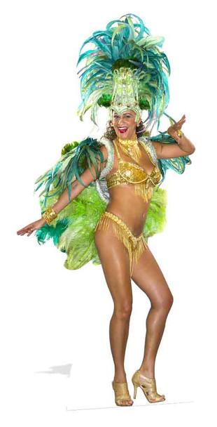 Mardi Gras Carnival Festival Babe Lifesize Cardboard Cutout
