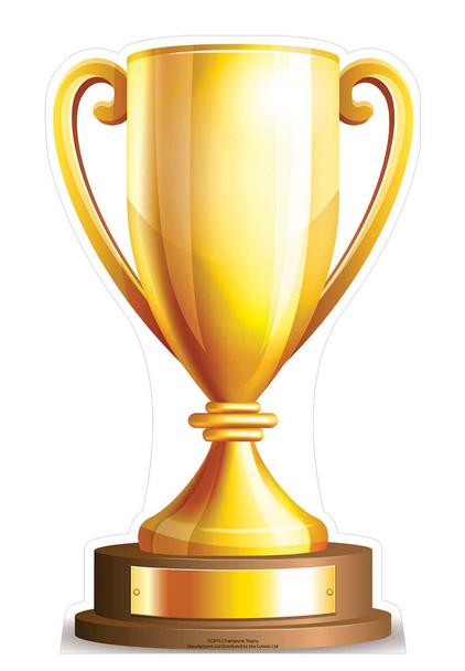 Small Champions Trophy Cardboard Cutout