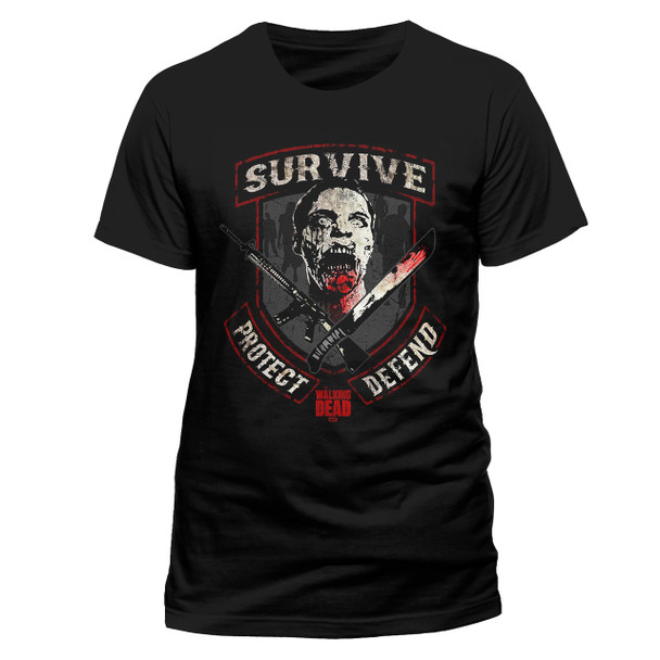 The Walking Dead Survive Protect Defend Official Unisex T-Shirt