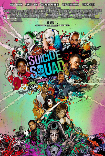 Suicide Squad Original Movie Poster - Final Style