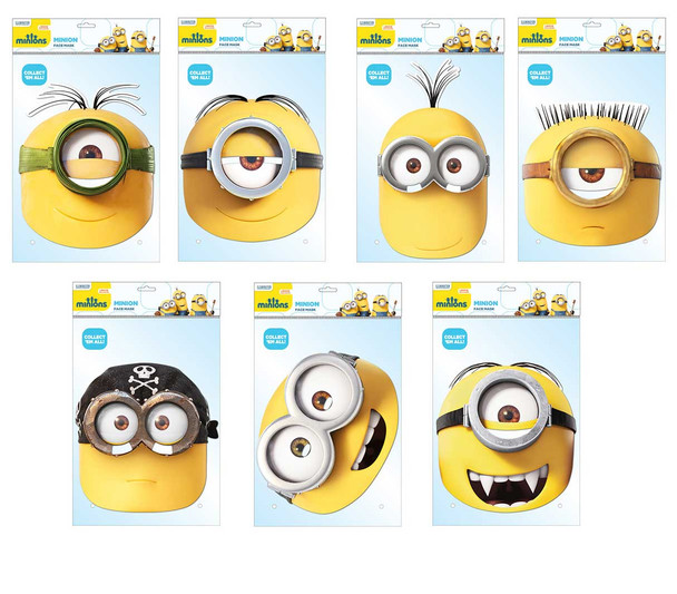 Minions Variety Card Mask 7 Pack