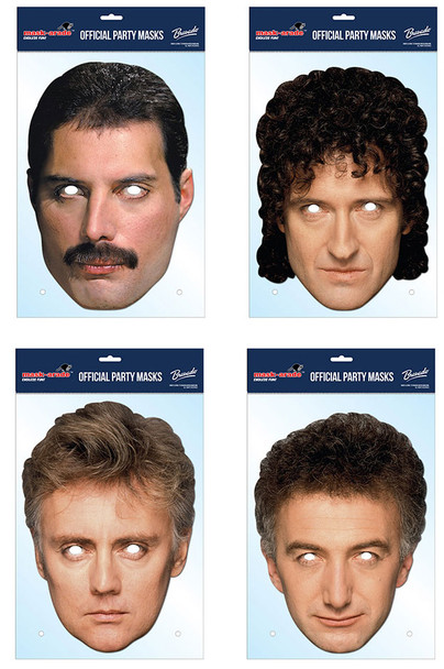 Queen set of 4 Card Party Face Masks