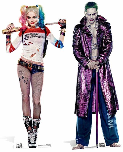 Harley Quinn and The Joker Cardboard Cutout Twin Pack