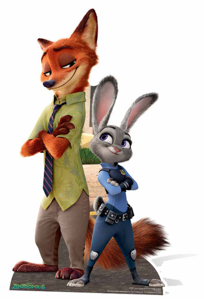 Judy Hopps and Nick Wilde from Zootropolis Cardboard Cutout