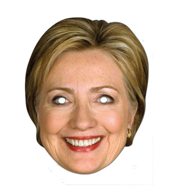 Hillary Clinton 2D Card Party Face Mask