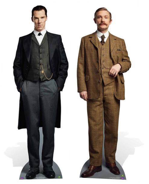 Sherlock Holmes and Doctor Watson Cardboard Cutout Twin Pack