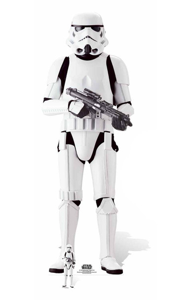 Imperial Stromtrooper Lifesize and Mini Cardboard Cutout
