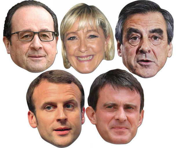 French Politician Card Party Mask Pack