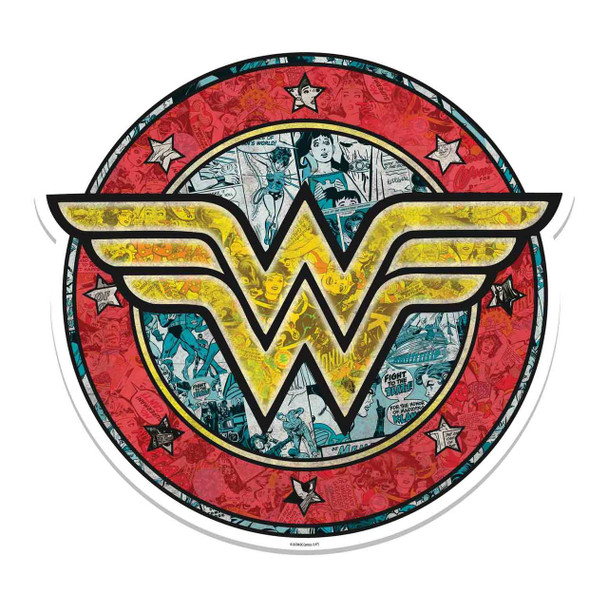 Wonder Woman Shield Logo 3D Effect Cardboard Cutout Wall Art