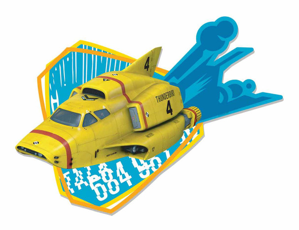 Thunderbird 4 Underwater Rescue Submarine Wall Mounted Cardboard Cutout