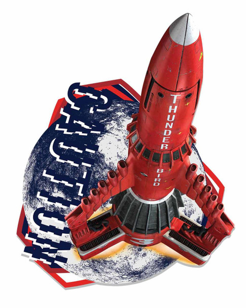 Thunderbird 3 SSTO Space Rocket Wall Mounted Cardboard Cutout