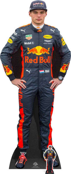 Max Verstappen with Mini Formula One Racing Driver Cardboard Cutout / Standee