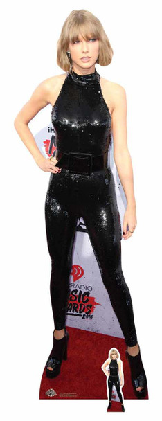 Taylor Swift Black Catsuit Cardboard Cutout