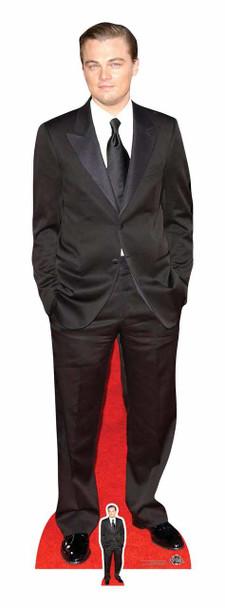 Leonardo DiCaprio Black Suit Lifesize Cardboard Cutout