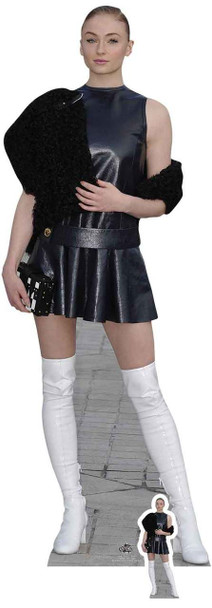 Sophie Turner White Boots Lifesize Cardboard Cutout