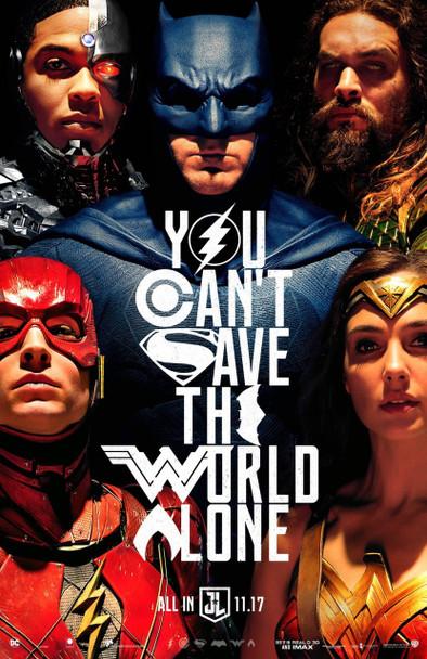 Justice League Original Movie Poster – Unite The League 2nd Advance Style