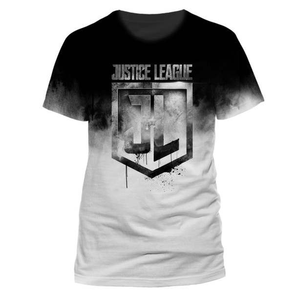 Justice League Jumbo Logo Official Movie Unisex T-Shirt