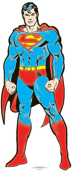 Superman DC Comics Mini Cardboard Cutout