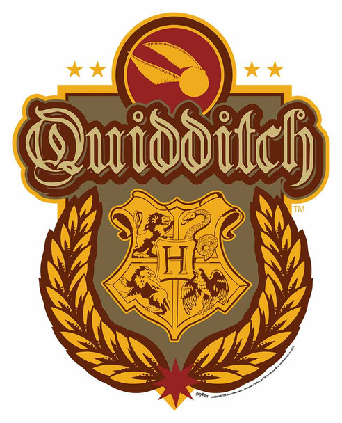 Quidditch Crest from Harry Potter Wall Mounted Official Cardboard Cutout