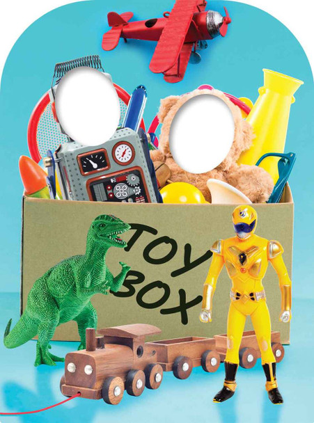 Boys Toy Box Child Size Stand In Cardboard Cutout / Standee