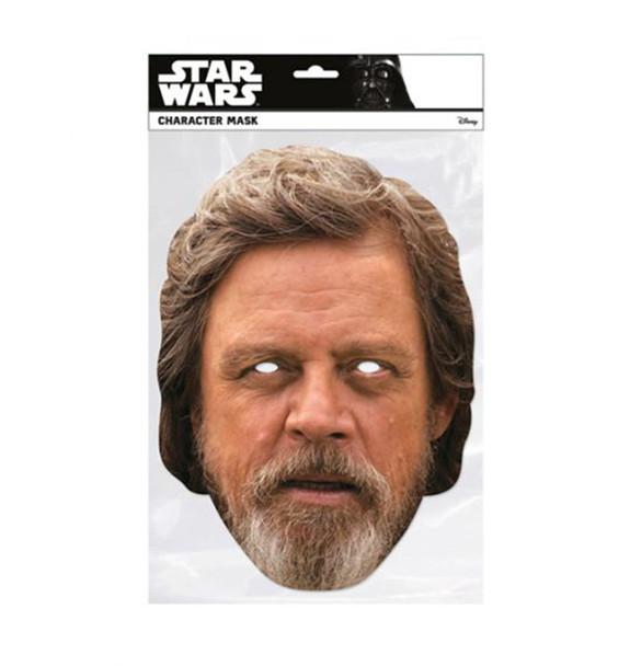 Luke Skywalker The Last Jedi Single 2D Card Party Face Mask