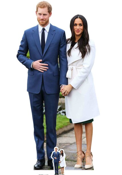 Prince Harry and Meghan Markle Cardboard Cutout / Standup