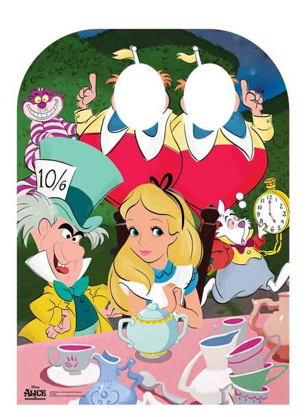 Alice In Wonderland Disney Child Size Stand - in Cardboard Cutout