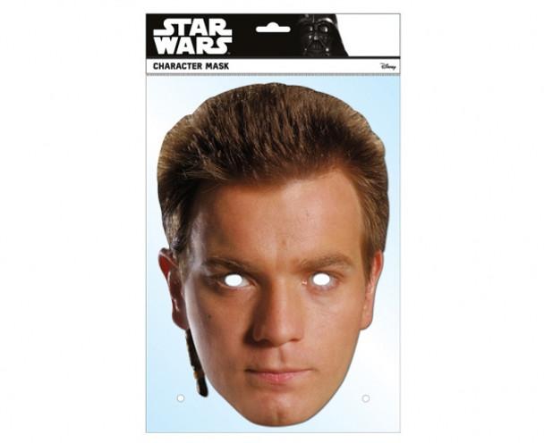 Obi-Wan Kenobi Star Wars Single Card 2D Party Face Mask