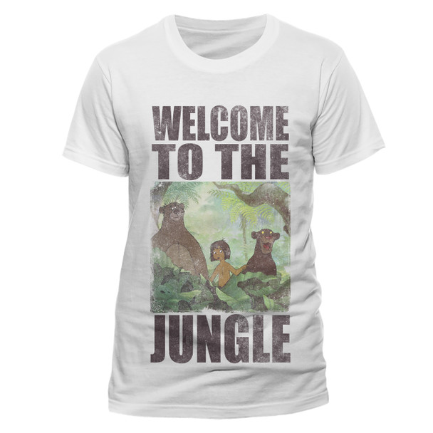 The Jungle Book Welcome To The Jungle Unisex White T-Shirt