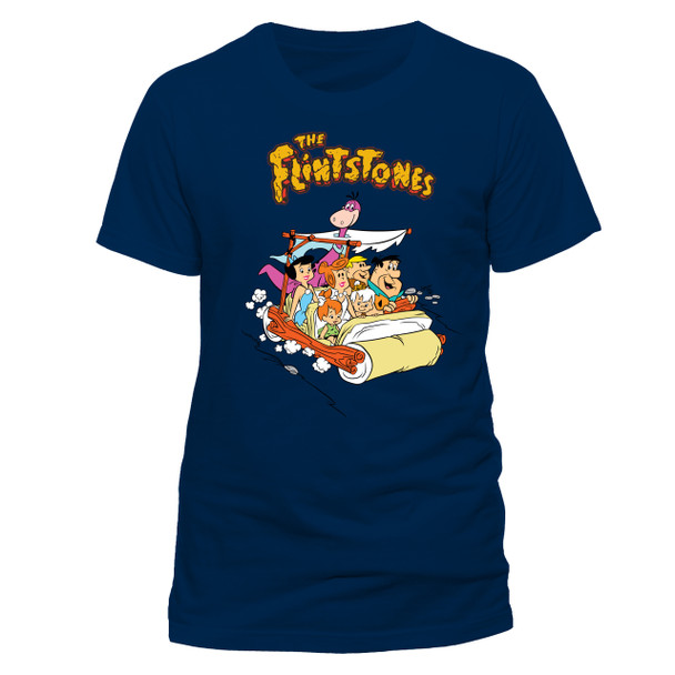 The Flintstones Car Official Unisex Blue T-Shirt