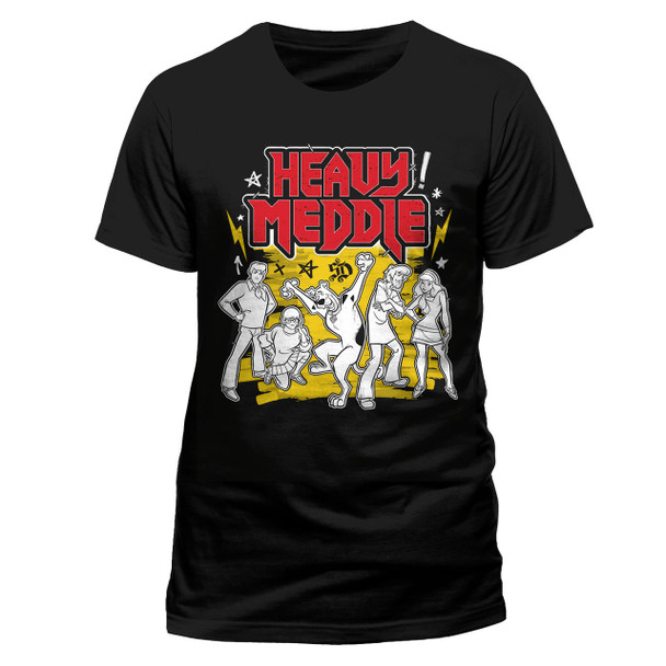 Scooby-Doo Heavy Meddle Official Unisex Black T-Shirt