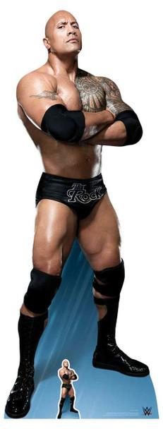 The Rock Dwayne Johnson Arms Crossed WWE Lifesize Cardboard Cutout