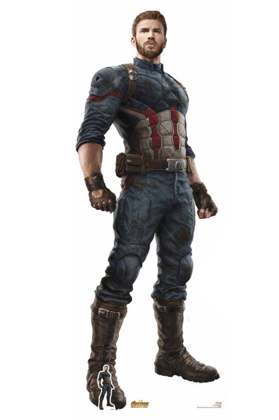 Official Captain America Avengers Infinity War Lifesize Cardboard Cutout