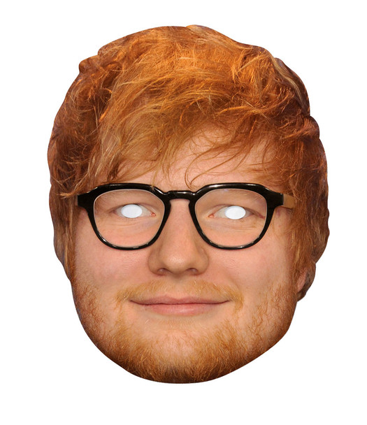 Ed Sheeran 2D Single Card Party Face Mask