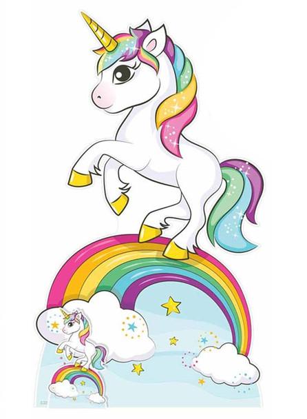 Rainbow Unicorn Cardboard Cutout / Standup / Standee