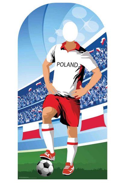 World Cup 2018 Poland Football Cardboard Cutout Stand-in
