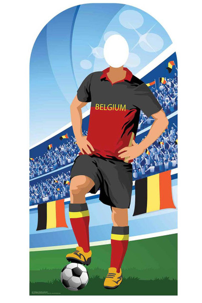 World Cup 2018 Belgium Football Cardboard Cutout Stand-in