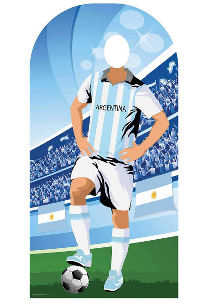 World Cup 2018 Argentina Football Cardboard Cutout Stand-in