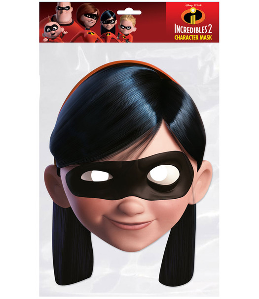 Violet Parr Incredibles 2 Single 2D Card Party Face Mask