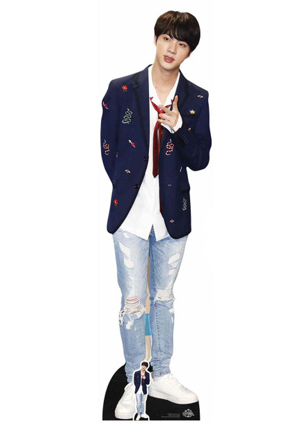 Jin from BTS Bangtan Boys Cardboard Cutout