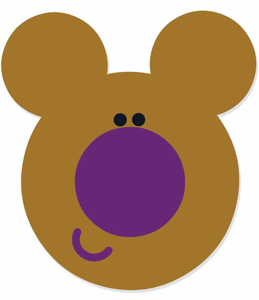 Norrie from Hey Duggee Single 2D Card Party Face Mask
