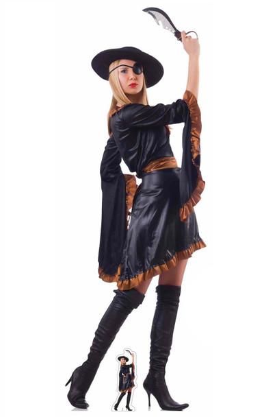 Female Pirate lifesized cardboard cutout