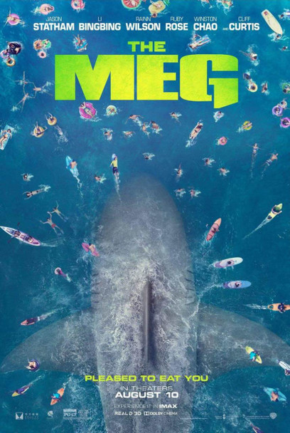 The Meg Original Movie Poster - Double Sided Advance Style