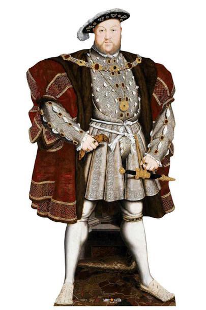King Henry VIII The Tudor King Lifesize Cardboard Cutout / Standup